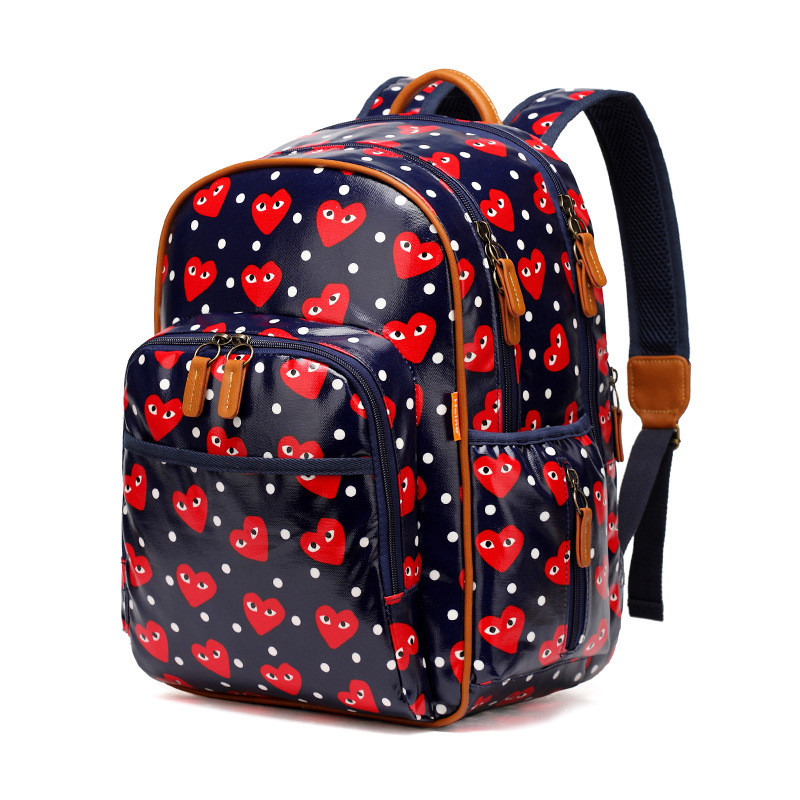 Plastic Canvas Overall Waterprrof Environmental Mummy Bags Fashion High-Capacity Mother Backpack high tech and fashion electric product shell plastic mold
