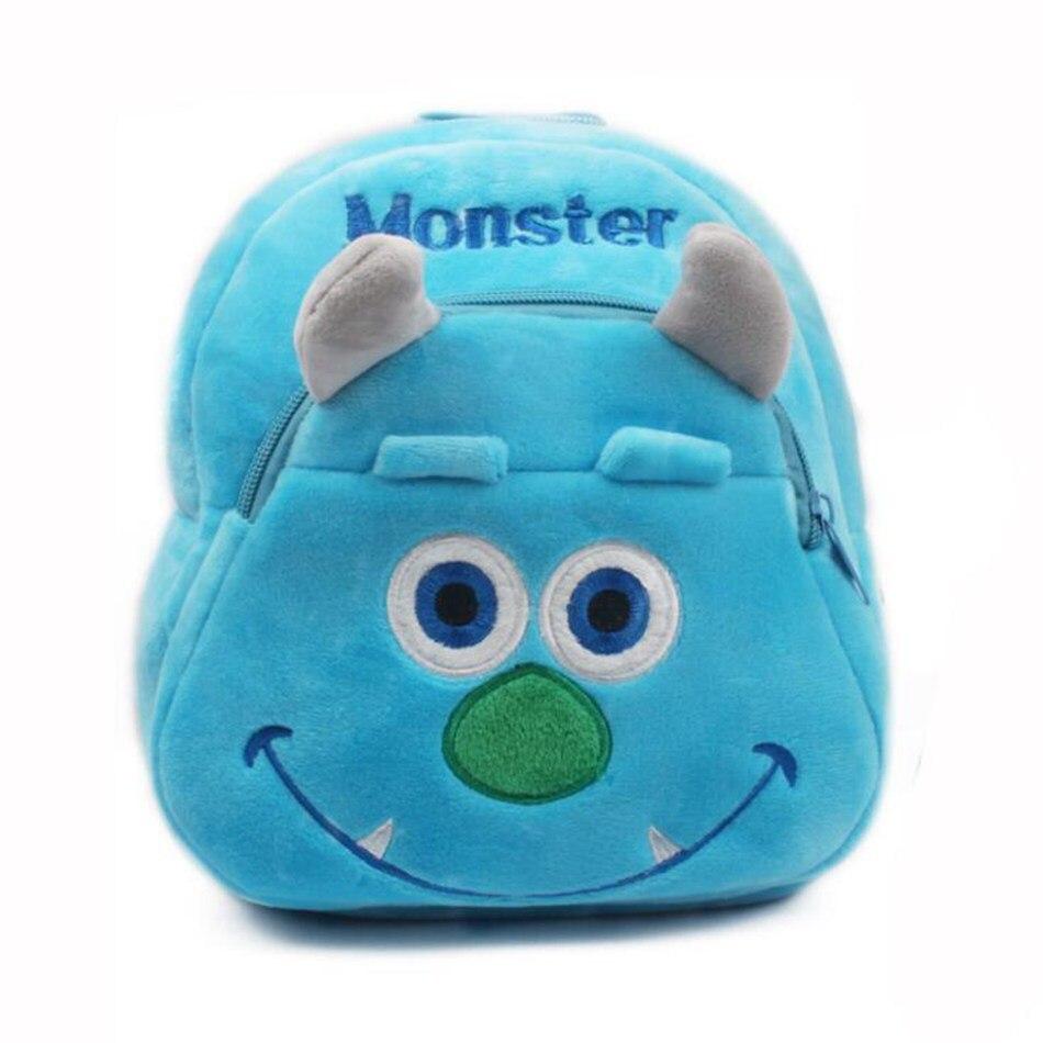 2018 Monsters University Plush Students In School Bag Backpack Children In Kindergarten Mini Schoolbag Mochila Escolar