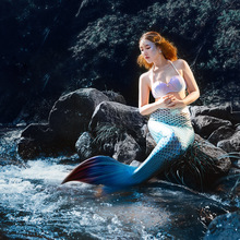 5pcs / set New Mermaid Tail with Monopalme Bikini Swimming Adults Girls Women Cosplay Suit Swimsuit