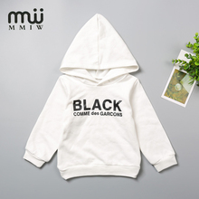 MMIV Children's Kid Sweater Hoodies Casual Baby Sweatshirt Long-Sleeved Sweater Pure White Cotton  Pattern Baby Clothes For Boys