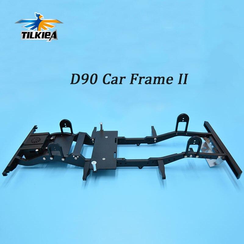 1 juego nuevo 1/10 RC4WD Gelande II Defender D90 chasis de aluminio de camión de orugas de roca D90-in Partes y accesorios from Juguetes y pasatiempos    1