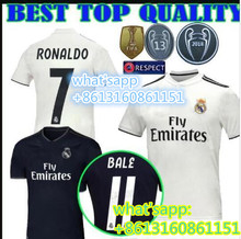 3d4ce4e01 NEW 2018 2019 REAL MADRID shirts 18 19 AWAY football camisetas RONALDO BALE  BENZEMA Thai AAA