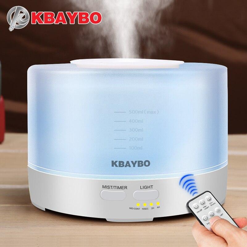 500 ml Ultrasonic Aroma Umidificador de Ar Com 7 Cor de Controle Remoto LEVOU Luzes Aromaterapia Aroma do Óleo Essencial Difusor Elétrico