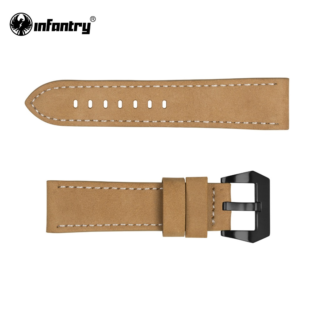 Useful Bands: INFANTRY 22mm Watch Strap Durable Genuine Leather Watch