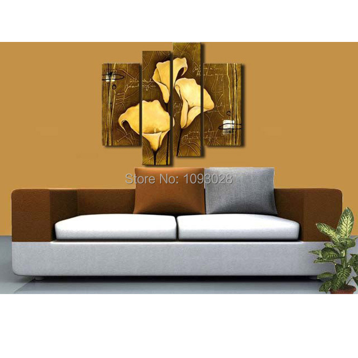 4 Piece Wall Art orchids picture promotion-shop for promotional orchids picture on