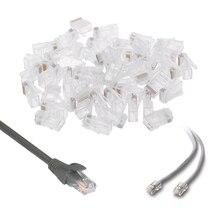 50 шт/УП многожильный разъем 10P10C сетевой кабель RJ48 Кристалл разъем модульный набор инструментов