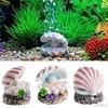 Shell Pearl & Air Stone Aquarium Fish Tank Ornament Shell Bubbler Bubbling Decor G03 Drop ship