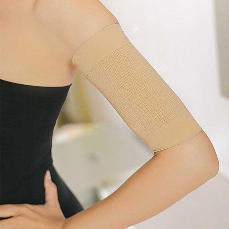 1 ペア痩身アームウォーマー女性の減量カロリーオフアームマッサージ損失脂肪黒ヌードアームスリーブ