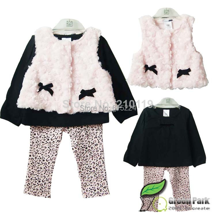 Retail 2018 new style baby girl's set spring autumn winter clothing set tops+pans+vest kids clothes sets baby girl clothes 1