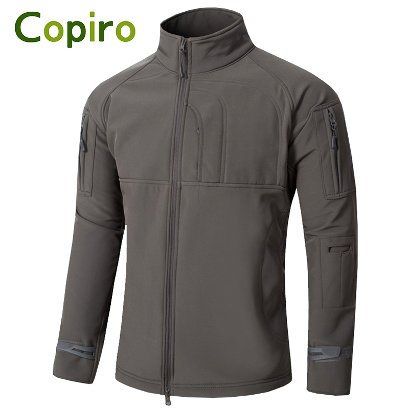 Copiro Camping Hiking Jacket Softshell Windstopper Men Military Outdoor Waterproof Windproof Mountaineering Clothes Sport Coats