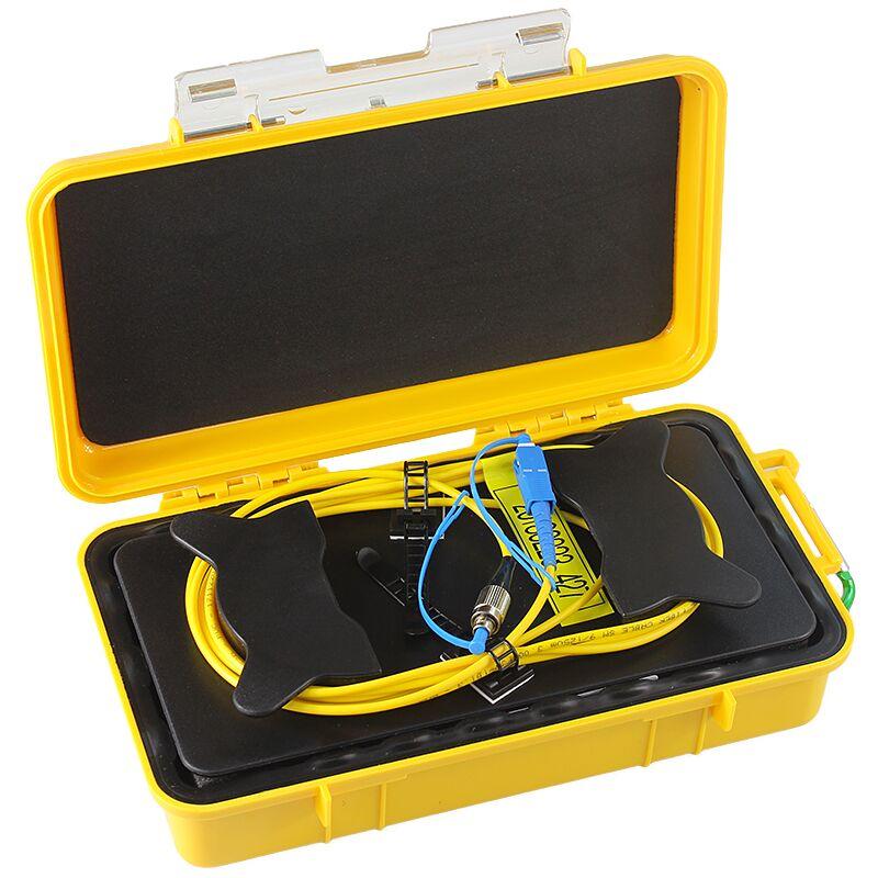 Livraison gratuite SC/UPC-FC/UPC OTDR Zone Morte Eliminator, Anneaux De Fibers, Fiber Optique OTDR Lancement Câble Boîte 1 km SM 1310/1550nm