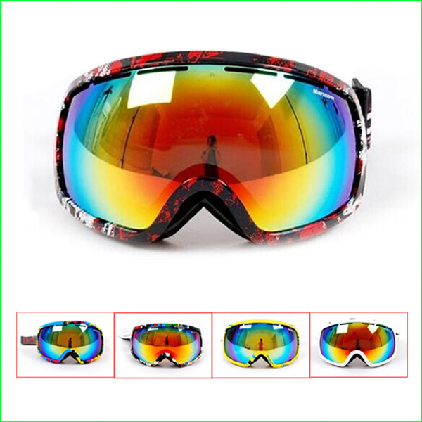 FG66M New Brand Skiing goggles double lens anti-fog big spherical professional ski glasses Unisex Multicolor Snowing Goggles 2017 double anti fog big spherical skiing goggles ski eyewear unisex snow goggles with night vision lens original boxes mask set