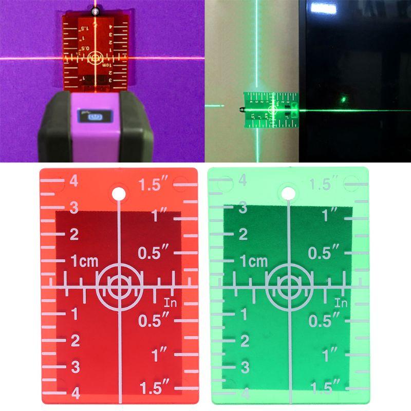 Werkzeuge Romantisch 1 Pc Laser Ziel Karte Platte Für Grün Und Rot Laser Ziel Platte Zoll/cm Diversifizierte Neueste Designs