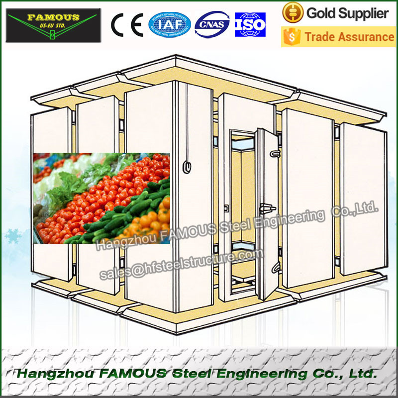 PU Sandwich Panel For Cold Storage And  Food Fresh Keeping Room