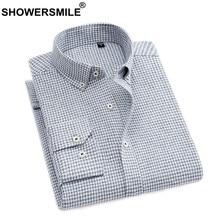 7bc9d1bd2c CHUVEIROS Camisas de Vestido Para Homens Camisa Social Cinza Xadrez de Algodão  Grosso Quente Outono Inverno