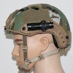 육군 군사 전술 헬멧 라이트 홀더 사냥 airsoft 액세서리 airsoftsports 전술 헤드셋 빠른 pjbj mich2000 2001 02