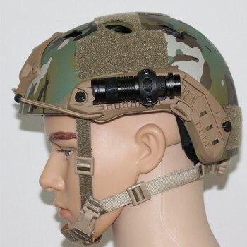 bbc53e5e7a6 Soporte de luz para casco táctico militar ejército accesorios Airsoft  Airsoftsports auriculares tácticos rápido PJBJ Mich2000 2001 02