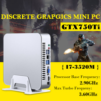 Msecore игры Dual Core i7 3520 м с GTX750TI 4G Дискретная Mini PC Windows 10 Настольный компьютер неттоп barebone системы HTPC