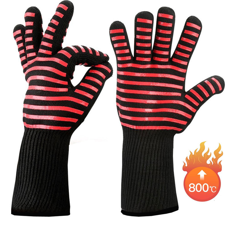 כפפות הגנה ובטיחות מחום עש 800 מעלות, מתאים לעבודה במנגל 3