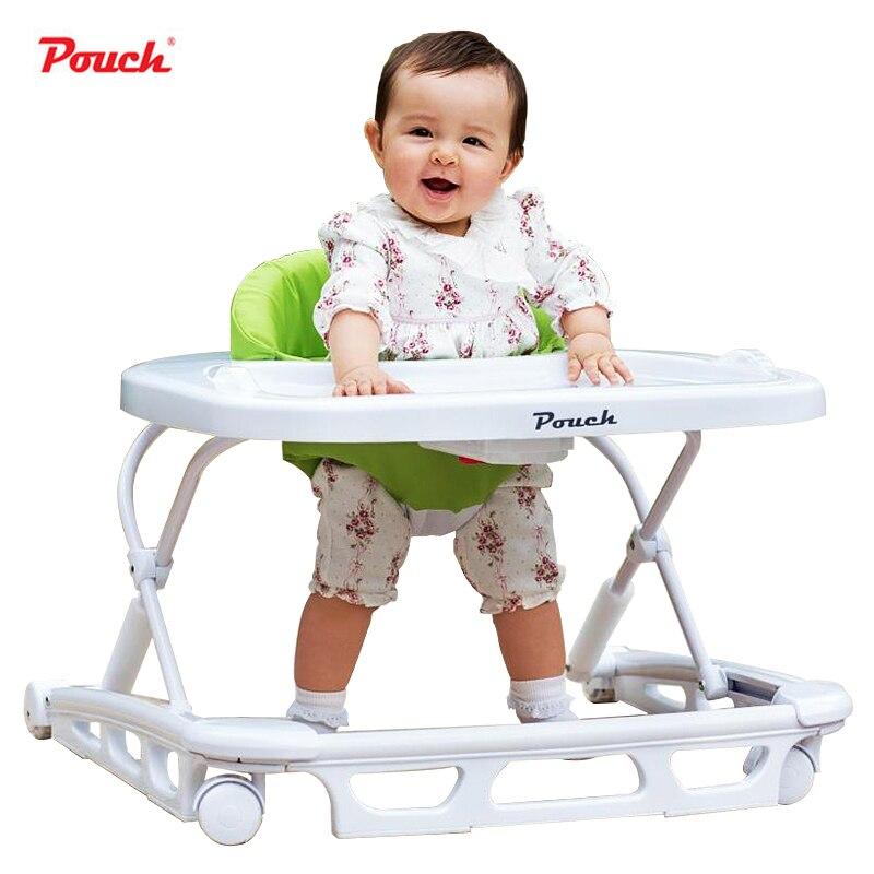 Pouch walker slammed multifunctional baby car folding baby child walker