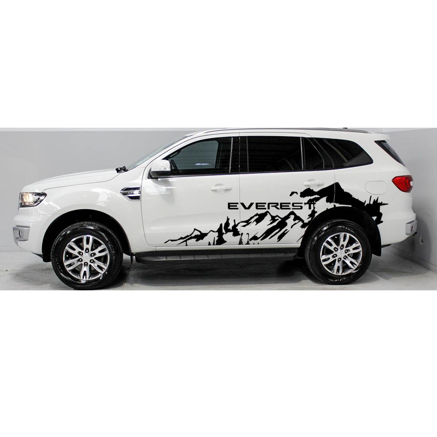 Livraison gratuite 2 pc hors route côté aventure montagne bande graphique Vinyle autocollant pour ford everes 2015 2016 SUV accessoires