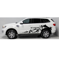 free shipping 2 PC off road side adventure mountain stripe graphic Vinyl sticker for ford everes 2015 2016 SUV accessories