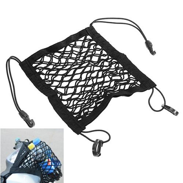 Motorcycle Luggage Nylon Net Hold Bag Multifunction Storage Mobile Phone For Bike Scooter Bicycle Durable Car Accessories
