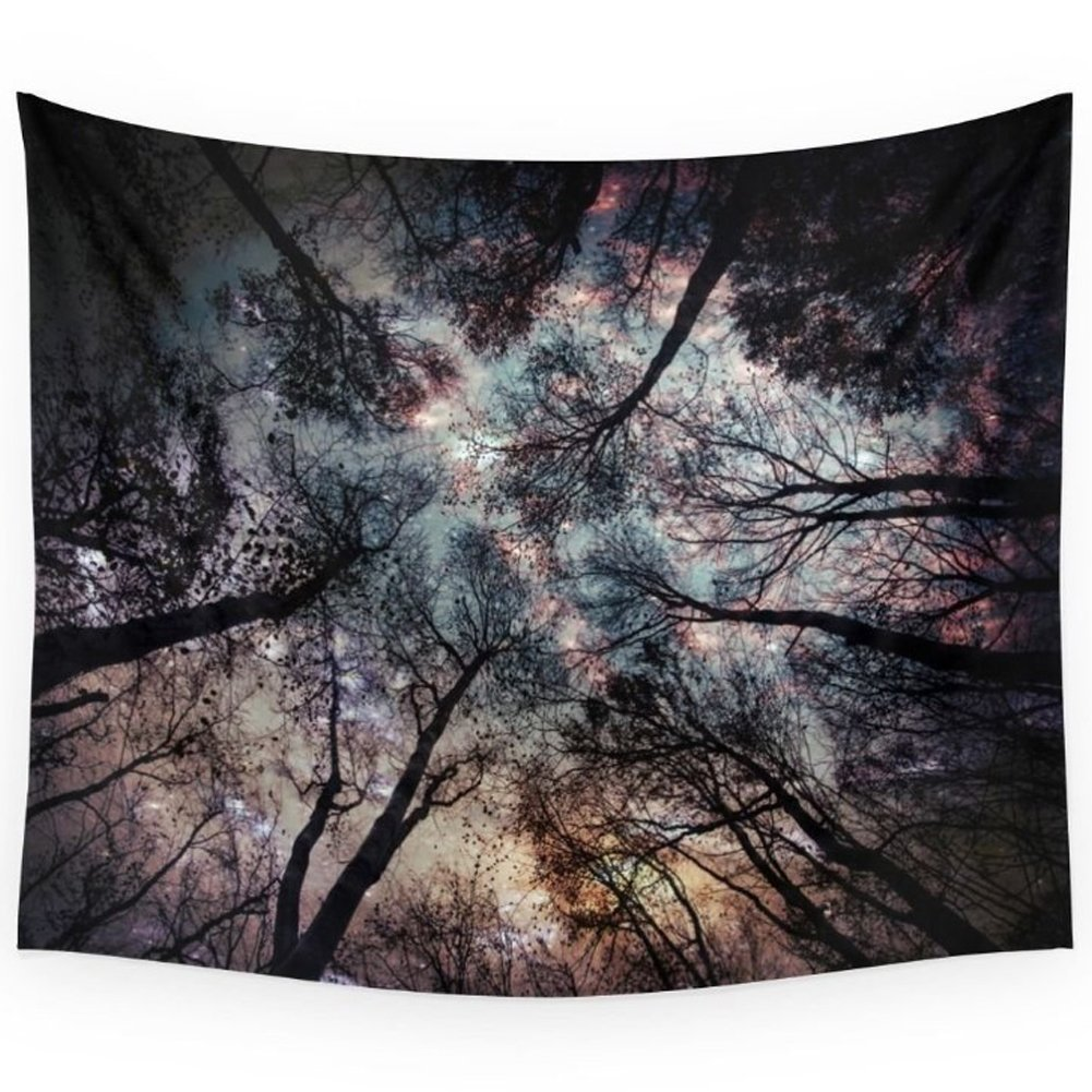 Dreamland Starry Sky In The Forest Wall Art Tapestry Dorm Decor