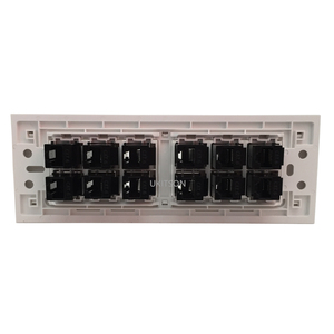 Image 3 - CAT5E CAT6 RJ45 Female To Female Connector 12 Plugs Extender Socket Port 118 Type Panel Outlet
