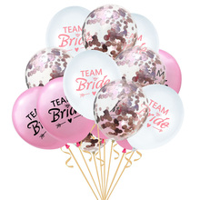 12Inch Bride Latex Balloons Valentines Day Bachelorette Party Decoration Gold Confetti Balloon Wedding Supplies