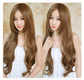 New Sexy Womens Girls WIG  Fashion Style Wavy Curly Long Hair Human Full Wigs Colors 70CM