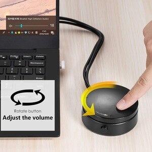 Image 5 - Mini headset para computador, controle de volume do computador, fone de ouvido, alto falante, interruptor de áudio com microfone, 3.5mm