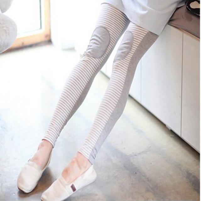 Maternidad Leggings pantalones ropa para mujeres embarazadas alta cintura ajustable cinturón de algodón a rayas pantalones embarazo para el otoño
