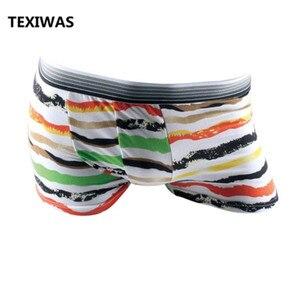 Image 2 - TEXIWAS 10Pcs/lot Fashion Silk Underwear Men  Cartoon Print Man Boxers Homme Comfortable Underpants Soft Breathable Male Panties