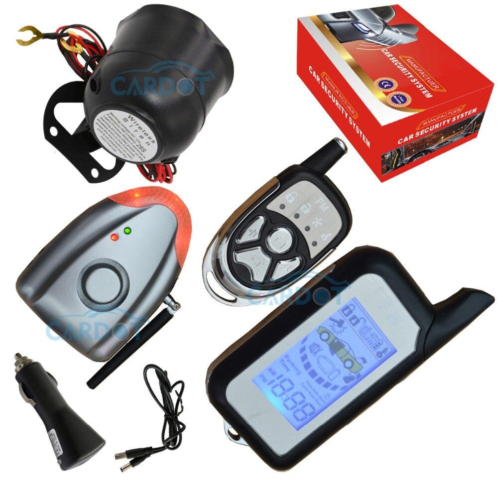 Système de sécurité automatique d'alarme automatique bidirectionnelle de voiture de bricolage avec la notification d'alarme sans fil de choc de sirène d'alarme et de pression d'air
