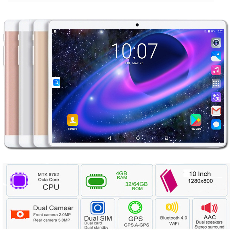 Global Version 2019 New 10 inch Tablet PC MTK8752 Octa Core 4GB RAM 64GB ROM Android