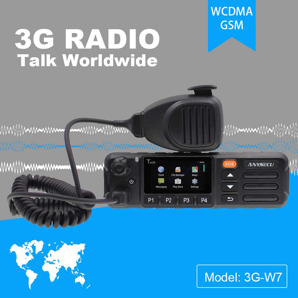 Anysecu 3G-W7 POC Network Radio Android 6.0 SOS GPS Function Support REAL PTT Walkiefleet Zello PTT EU And US Universal  Module