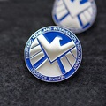 1 Piece 2CM Agents of S.H.I.E.L.D. Shield Hail Hydra Logo 3D Metal Badges Brooches Pin Cosplay Accessories