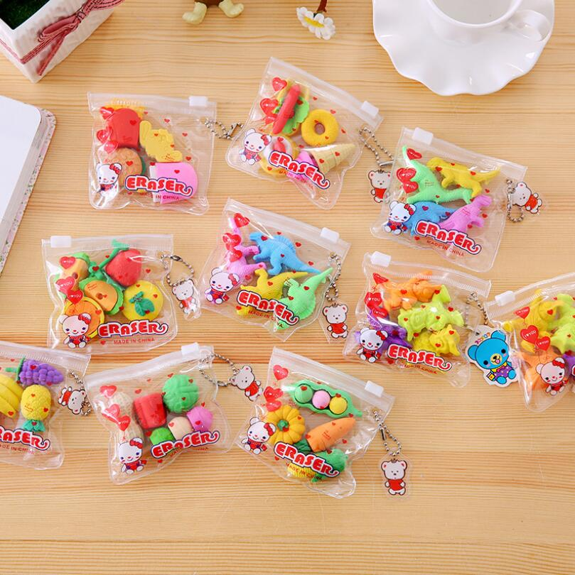 New Fashion Simulation Eraser Food/Vegetable/Cake/ Tool Biscuits Eraser Set/Office&Study Rubber Eraser/Special Children Gifts
