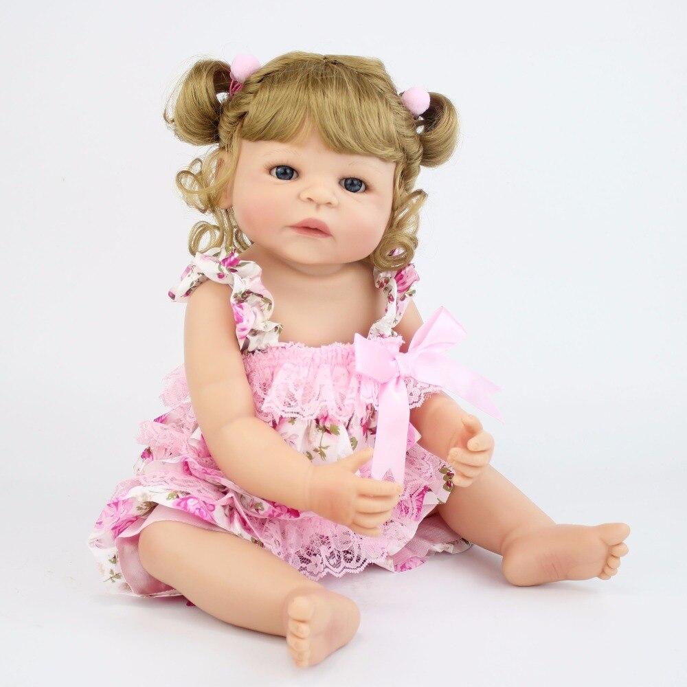 55 ซม.ไวนิลซิลิโคน Reborn ตุ๊กตาเจ้าหญิงทารกแรกเกิดที่สมจริง Bebe Alive ของเล่นวันเกิดของขวัญสาว Play House อาบน้ำของเล่น-ใน ตุ๊กตา จาก ของเล่นและงานอดิเรก บน   3