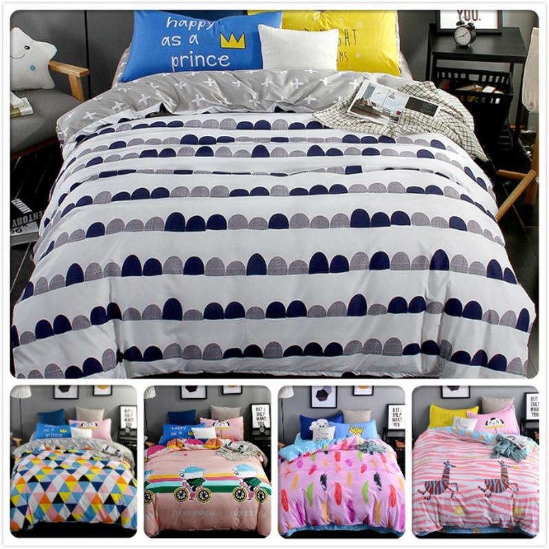 Black White Stripe Wave Point 3/4 pcs Bedding Set Kids Bedlinens 1.5m 1.8m 2.0m 2.2m Bedsheet King Queen Double Size Duvet Cover