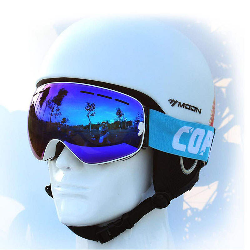 reflective snowboard goggles  Aliexpress.com : Buy COPOZZ Professional Mirrored Ski Goggles men ...