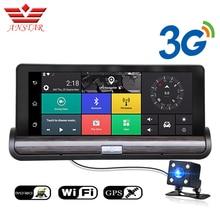 """Anstar 3 г 7 """"Car GPS навигатор DVR Камера Android WiFi Двойной объектив Full HD 1080 P видео Регистраторы с заднего вида Камера dashcam"""