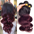 Ombre Hair Bundles Peruvian Virgin Hair Body Wave T1B/33 T1B/99j Ombre Human Hair Peruvian Body Wave 3 Pcs Ombre Peruvian Hair
