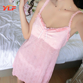 Sexy Sleeveless Spaghetti Strap Sleepwear Dress Hot Nighty Nylon Nightdress for women