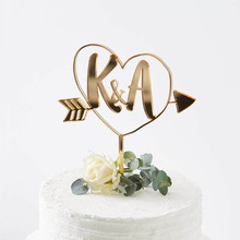 Personalized Wedding Cake Topper Custom Initials Wedding Decoration Acrylic silver/rose gold Personalized Your Names