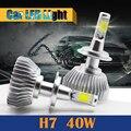 1 Par H7 40 W LED 4000LM Luz de Reemplazo de la Linterna Del Faro Del Coche Blanco Luz de Niebla Corriente Diurna DRL de luz de Cruce lámpara