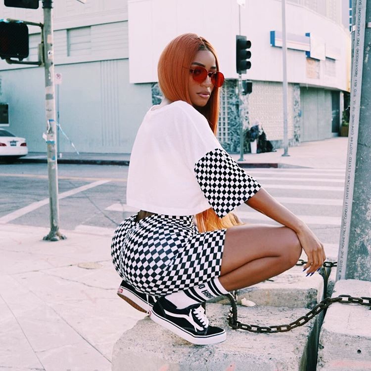 HTB1ceibRVXXXXbVXXXXq6xXFXXXi - Two piece set Women 2017 Sexy Summer patchwork white O-Neck letter crop top and shorts set female casual runway Checkered pants PTC 212