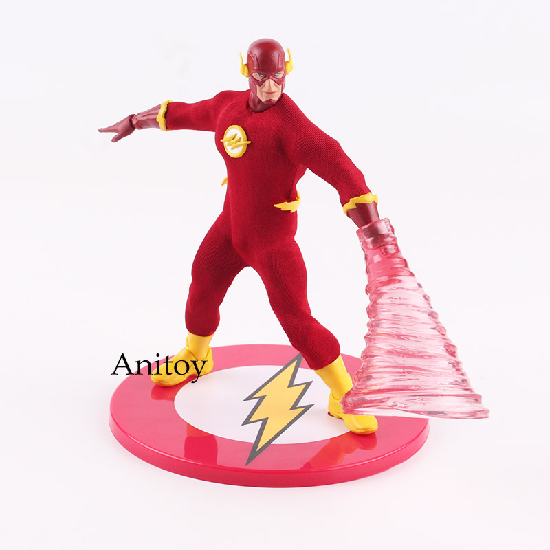 DC Comics Action Figure The Flash Action Figure Speed Force Running MEZCO 1/12 Scale PVC Figures Collectible Model Toy 15cm mezco hellboy doll with weapons pvc action figure collectible model toy 8 20cm kt3643