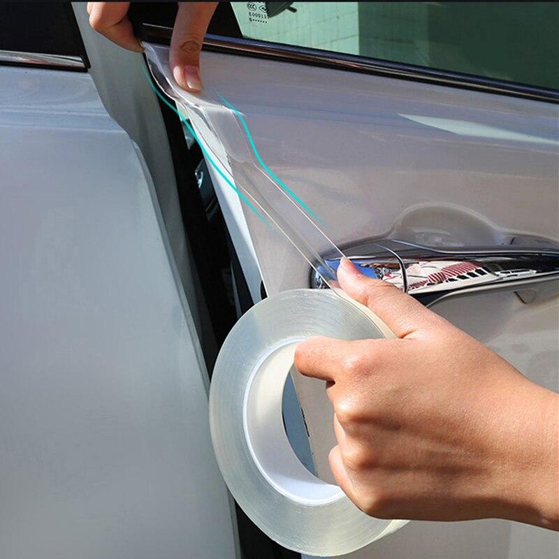 Car Door Edge Protector Sticker Strip PVC Film Transparent Anti Collision Edge Guard Scratch Protector Rubber Seal Auto Guard